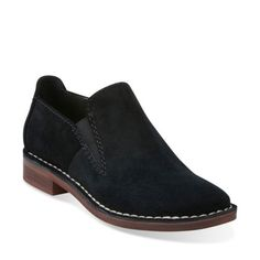 986f9316a2 Cabaret City Black Suede - Clarks Womens Shoes - Womens Heels and Flats -  Clarks -
