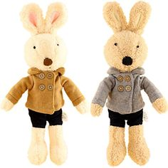 JIARU Toy Bunny Plush Stuffed Animals RabbitsFashion Jacket12 Inches2PCS SET See This Great ProductIt Is Amazon Affiliate Link LetYourBabytoPlay