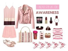 """#PinkAwareness"" by rossie-rz ❤ liked on Polyvore featuring Alexander McQueen, STELLA McCARTNEY, Gucci, Vanessa Mooney, Casetify, Rosantica, Louis Vuitton, Urban Decay, OPI and DKNY"
