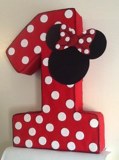 Minnie mickey mouse polka dots Number one Pinata, minnie mouse Party decoration, minnie mouse red,mickey minnie mouse, minnie mouse birthday party Minnie Mouse Pinata, Theme Mickey, Red Birthday Party, Minnie Mouse Birthday Decorations, Minnie Mouse First Birthday, Minnie Mouse Theme, Mickey Party, Decoration Minnie, Festa Mickey Baby