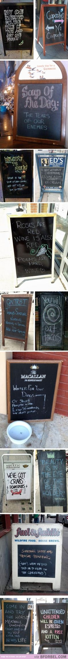 14 Funny Sign Boards Outside Eateries…