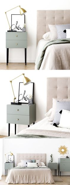 Amazing Bedroom Design Ideas For Small House Diy Furniture Nightstand, Dresser As Nightstand, Floating Nightstand, Room Paint Colors, Paint Colors For Living Room, Exterior House Colors, Recycled Furniture, My Room, Colorful Interiors