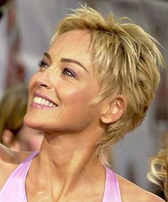 How to Cut Sharon Stone Hairstyles Short | short haircut, Sharon Stone.