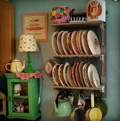 #vintage #grannychic #kitchen