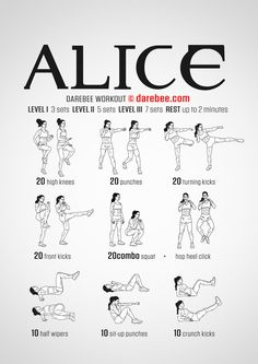Alice workout.