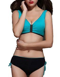 97bc209ba4 Plus Size Swimsuits, Amazon, Swim Wear, Plus Size Women, Blue, Swimming,  How To Wear, Bikinis, Fashion