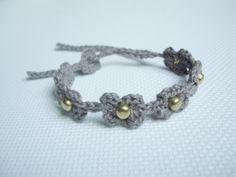 Crochet Bracelet by Hilaria Fina  #bracelet   #handmade #crochet https://www.facebook.com/hilaria.fina