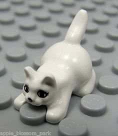 NEW Lego 3 Cat// Dog Animal Minifigure Pet Food Minifig SHORT WHITE BONES