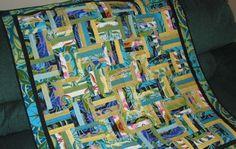 Chair Rail Strip Lap Quilt Pattern