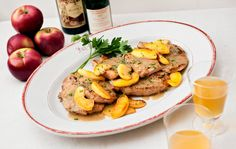 A Taste of Fall in a Bottle of Hard Cider — City Kitchen - NYTimes.com.  Pork chops with apples and cider
