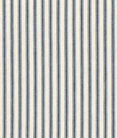 Covington Navy Woven Ticking Fabric - $14.3 | onlinefabricstore.net - loving this pattern... stairs rug?