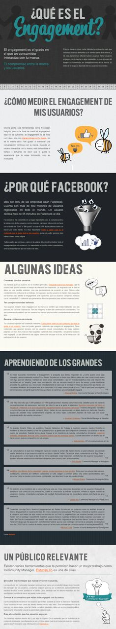 ¿Qué es el Engagement? #infografia #infographic #marketing #socialmedia