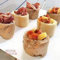 cestas de pan para aperitivos