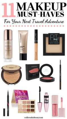 Pack up these makeup essentials in your luggage for your next trip to stay beautiful on the go.