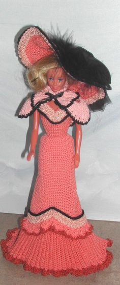 CROCHET FASHION DOLL PATTERN-#437 SPRING IN PARIS #ICSORIGINALDESIGNS