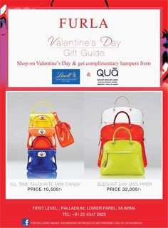 Shop at Furla Palladium High Street Phoenix on Valentines Day & get complimentary hampers from Lindt & Qua | Deals, Sales, Offers, Discounts in Mumbai | MallsMarket