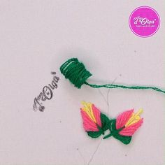 Hand Embroidery Videos, Embroidery Stitches Tutorial, Hand Embroidery Flowers, Embroidery Flowers Pattern, Creative Embroidery, Flower Embroidery Designs, Simple Embroidery, Learn Embroidery, Ribbon Embroidery
