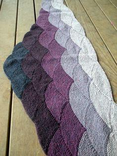 Aranami Shawl in Brooklyn Tweed Loft purples - stunning!