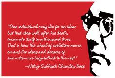 Subhash Chandra Bose Netaji Freedom Fighter Indian Brave