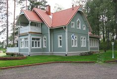 The construction company from my home region. Famous for their heritage models | By Kannustalo. Finnish Houses
