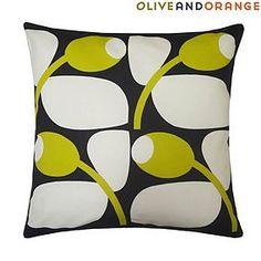 Olive and Orange Olive Sunflower Cushion