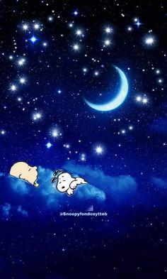 Sleeping in the clouds - Peanuts Hug Cartoon, Peanuts Cartoon, Peanuts Snoopy, Cartoon Drawings, Good Night Greetings, Good Night Messages, Good Night Wishes, Snoopy Love, Charlie Brown And Snoopy