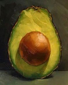'Avocado' oil painting by Michael Naples US. 'Авокадо' картина маслом Майкла Нейплса США. #иллюстрация #живопись #искусство #графика #холст #масло #арт #art #illustration #pencil #artsy #drawing #contemporaryart #draw #oil #sketchbook #graphic #timetoart
