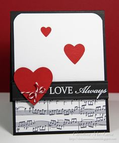 card heart hearts love be my valentine valentines day sheet music paper black white red Wedding Anniversary Cards, Wedding Cards, Anniversary Ideas, Wedding Gifts, Valentine Love Cards, Valentine Ideas, Karten Diy, Card Sketches, Creative Cards