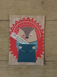 verjaardagskaart egel