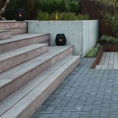 A nice synthesis of materials for this contemporary garden