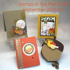Acorny Thank You - Stamps in the Mail Club projects by LovenStamps, all supplies Stampin' Up!