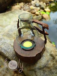 Wooden Candle Holder Set