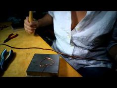 How to hammer wire for jewelry making part 2 - http://videos.silverjewelry.be/brass/how-to-hammer-wire-for-jewelry-making-part-2/