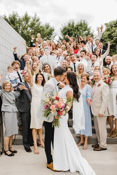 b22ef7bf715d Draper utah wedding photographer wedding exit family cheering lds temple  Utah Temples, Lds Temples,