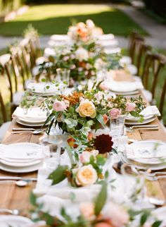 early fall centerpieces | Anna Routh + Graham Terhune #wedding