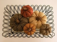 I love making fabric pumpkins for Fall - great and easy way to scratch that colorful fabric itch! This is a great tutorial for what I think is the best method. Fall Sewing Projects, Diy Projects To Try, Crafts To Make, Craft Projects, Craft Ideas, Autumn Crafts, Holiday Crafts, Thanksgiving Crafts, Thanksgiving Decorations