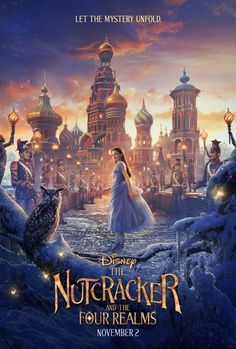 Walt Disney has released a new poster for their holiday feature film The Nutcracker and The Four Realms in theaters Nov. New Movies 2018, New Movies To Watch, Watch Free Movies Online, Disney Dvd, Walt Disney, Disney Pixar, Night Film, Streaming Movies, Hd Movies