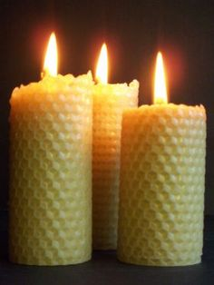 Beeswax Honeycomb Candles from Happy Flame Candles