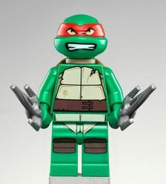 Raphael TMNT LEGO Minifigure... Someone please get this for me!