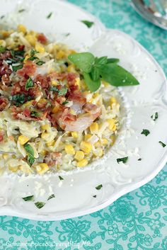 Creamy Shrimp, Corn  Bacon Orzo