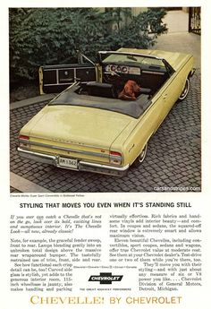 1964 Chevrolet Impala Super Sport Convertible - Styling that moves you even when it's standing still - Original Ad