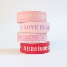 washi tape with messages