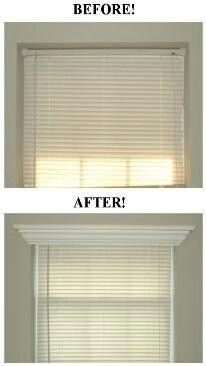 Dress up a window with crown molding.