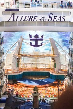 Looking Down on the Water Theater on the Royal Caribbean Allure of the Seas