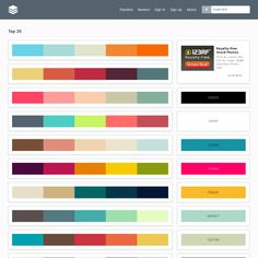 With PLTTS you can search for colour palettes from ColourLovers. It's easy to search for a palette with any specific colour. Or just bookmark your favorites.