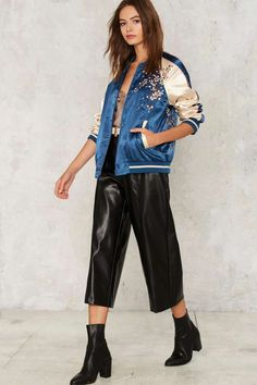 Wild Girl Embroidered Bomber Jacket - Clothes | Best Sellers | Bomber + Utility