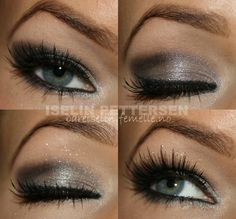grey smokey eye make up