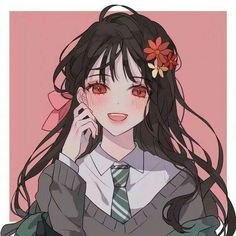 sticker by Discover all images by Find more awesome anime images on PicsArt. Pretty Anime Girl, Beautiful Anime Girl, Kawaii Anime Girl, Anime Art Girl, Manga Girl, Anime Girls, Art Et Illustration, Character Illustration, Anime Girl Drawings