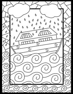 Noah and Ark Coloring Pages