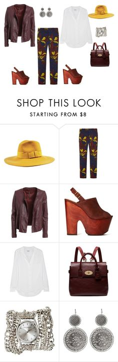 """Untitled #100"" by mcheris ❤ liked on Polyvore featuring Brixton, Marni, Manila Grace, Shoe Cult, Equipment, Mulberry and Sara Designs"